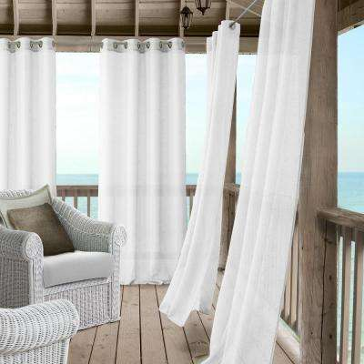 Bali Sheer Indoor/Outdoor Window Curtain with Tieback