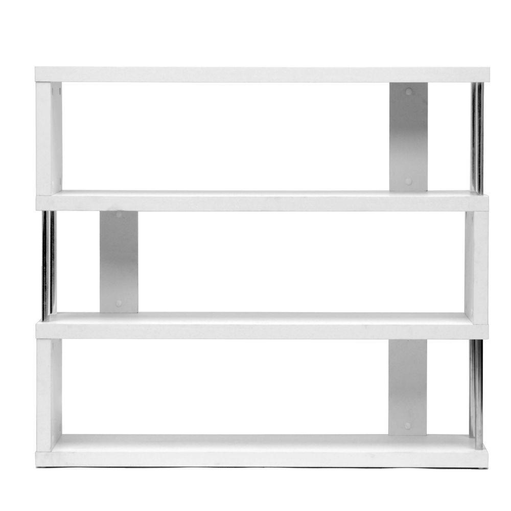 Barnes White Wood 3-Tier Open Shelf