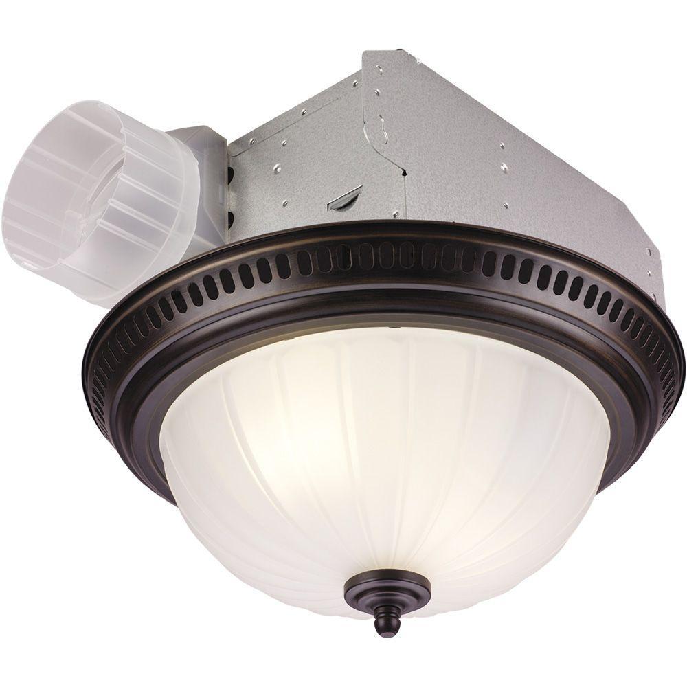 decorative bronze 70 cfm ceiling bathroom exhaust fan with light - Home Depot Bathroom Fans