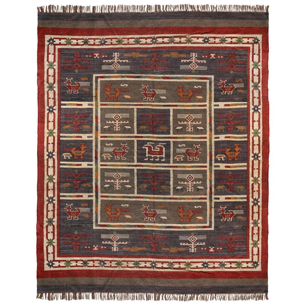 Blue Hacienda Wool Jute 9 Ft X 12 Ft Area Rug Wfw9032 The Home
