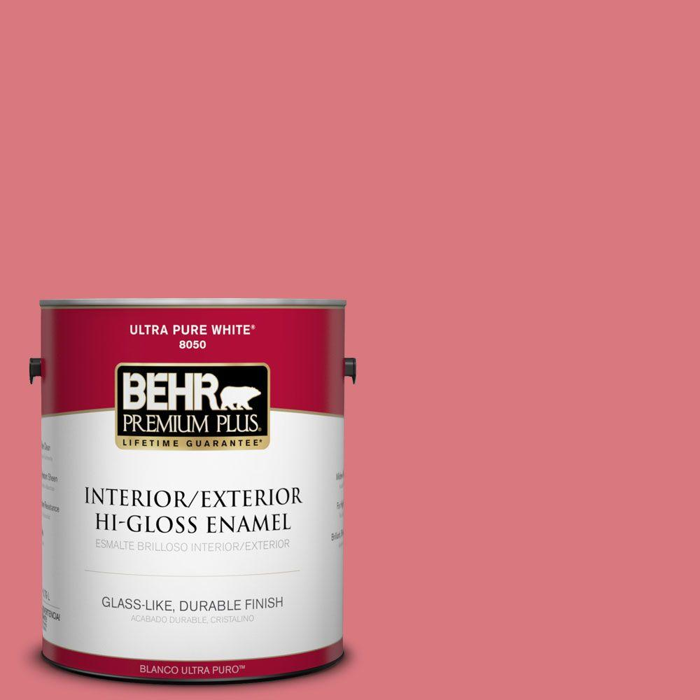 BEHR Premium Plus 1-gal. #P160-4 Juicy Details Hi-Gloss Enamel Interior/Exterior Paint