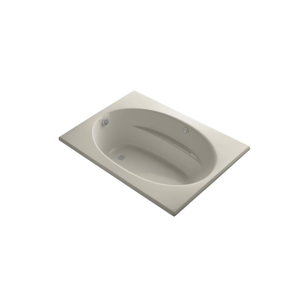 KOHLER Windward 5 ft. Air Bath Tub in Sandbar