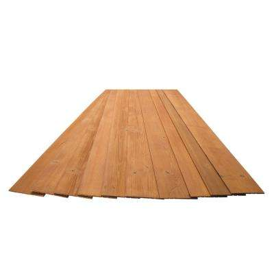3/16 in. x 5-1/8 in. x 46-1/2 in. Amber Rustic Pine Wood Plank Self-Adhesive (10-Pack)