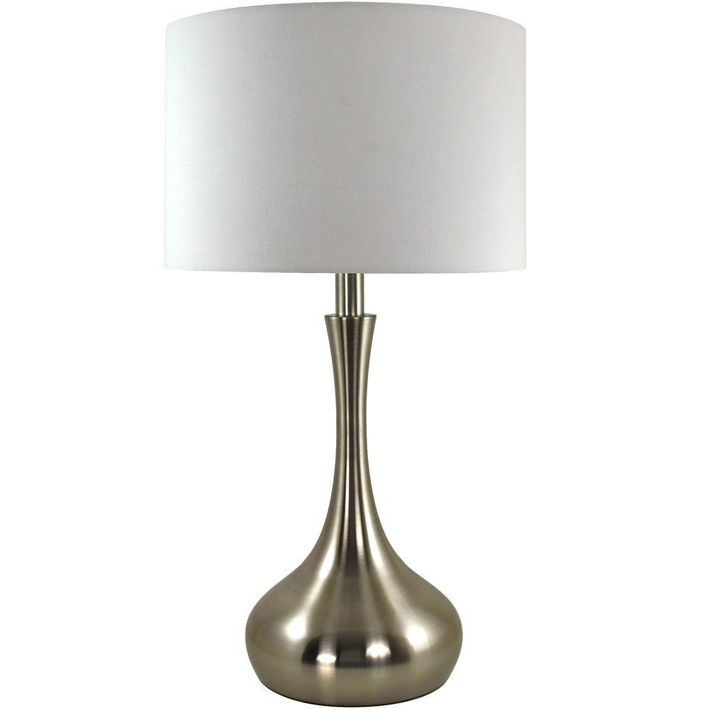 Kade 22 in. Brushed Nickel Teardrop Table Lamp