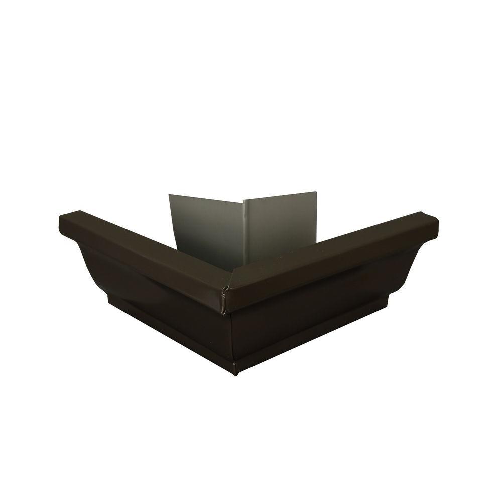 Amerimax Home Products 5 in. Dark Bronze Aluminum Outside Miter Box