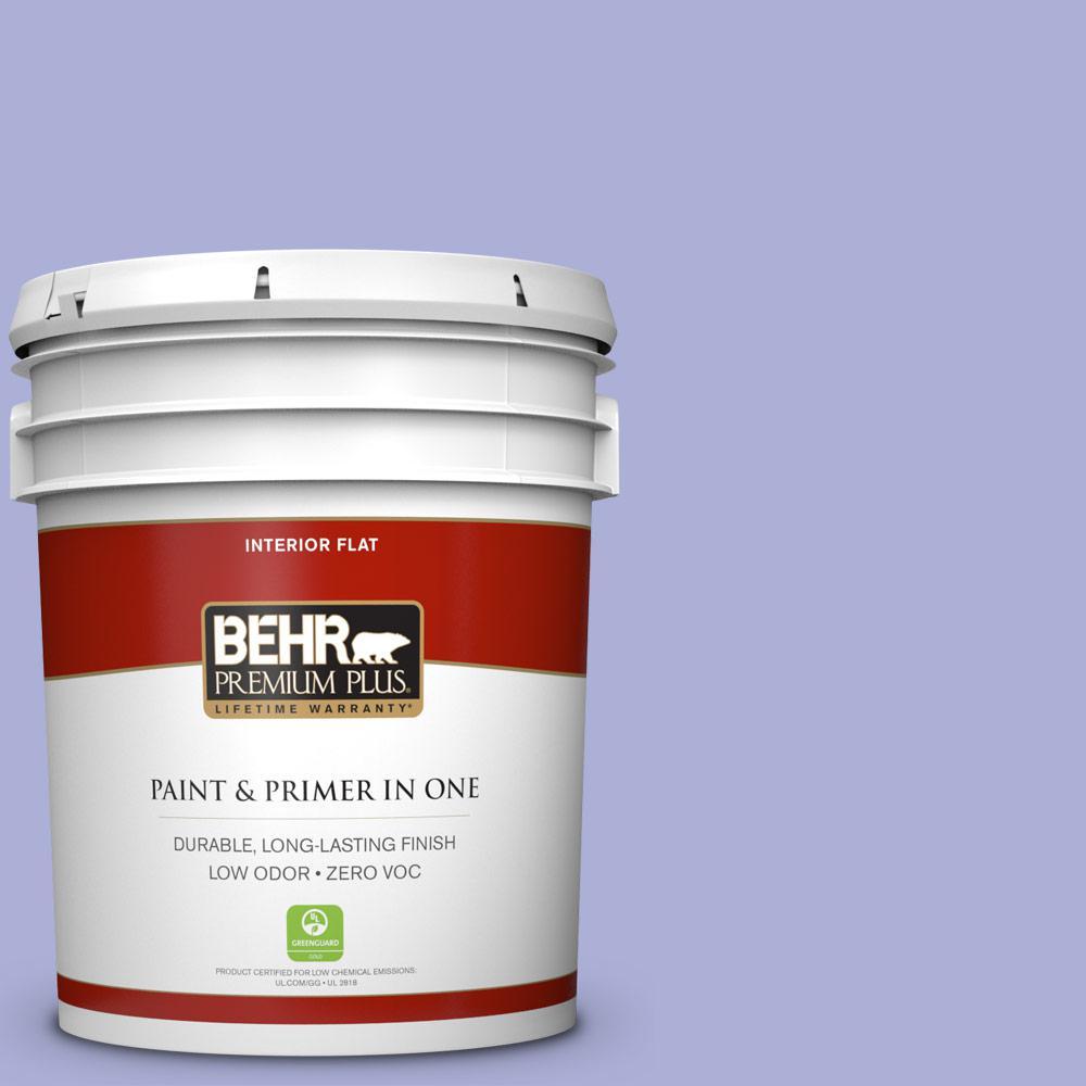 5 gal. #MQ4-30 Lavender Wash Flat Zero VOC Interior Paint and