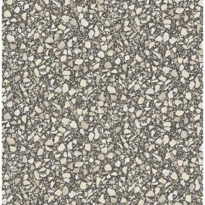 Aldrich Black Terrazzo Wallpaper Sample