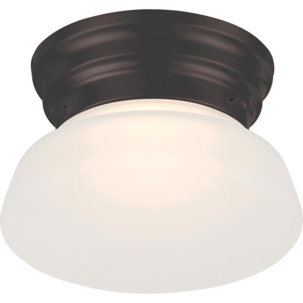 Filament Design 7.8-Watt Mahogany Bronze Integrated LED Ceiling Flush Mount