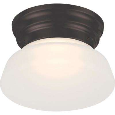 7.8-Watt Mahogany Bronze Integrated LED Ceiling Flush Mount