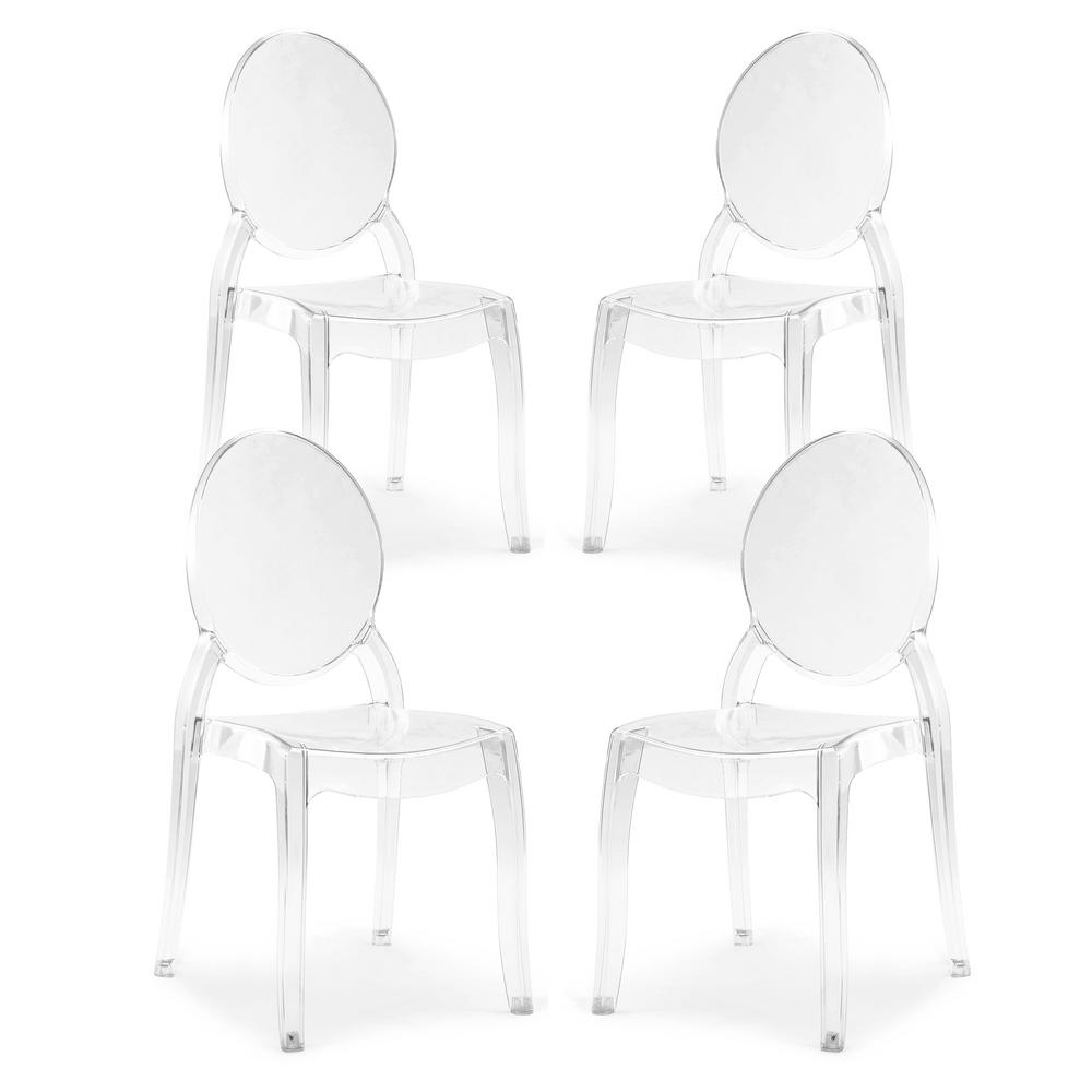 Criss Clear Dining Side Chair (Set of 4)