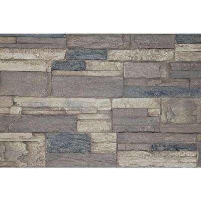 Rustic Lodge 8 in. x 8 in. x 3/4 in. Faux Tennessee Stone Sample