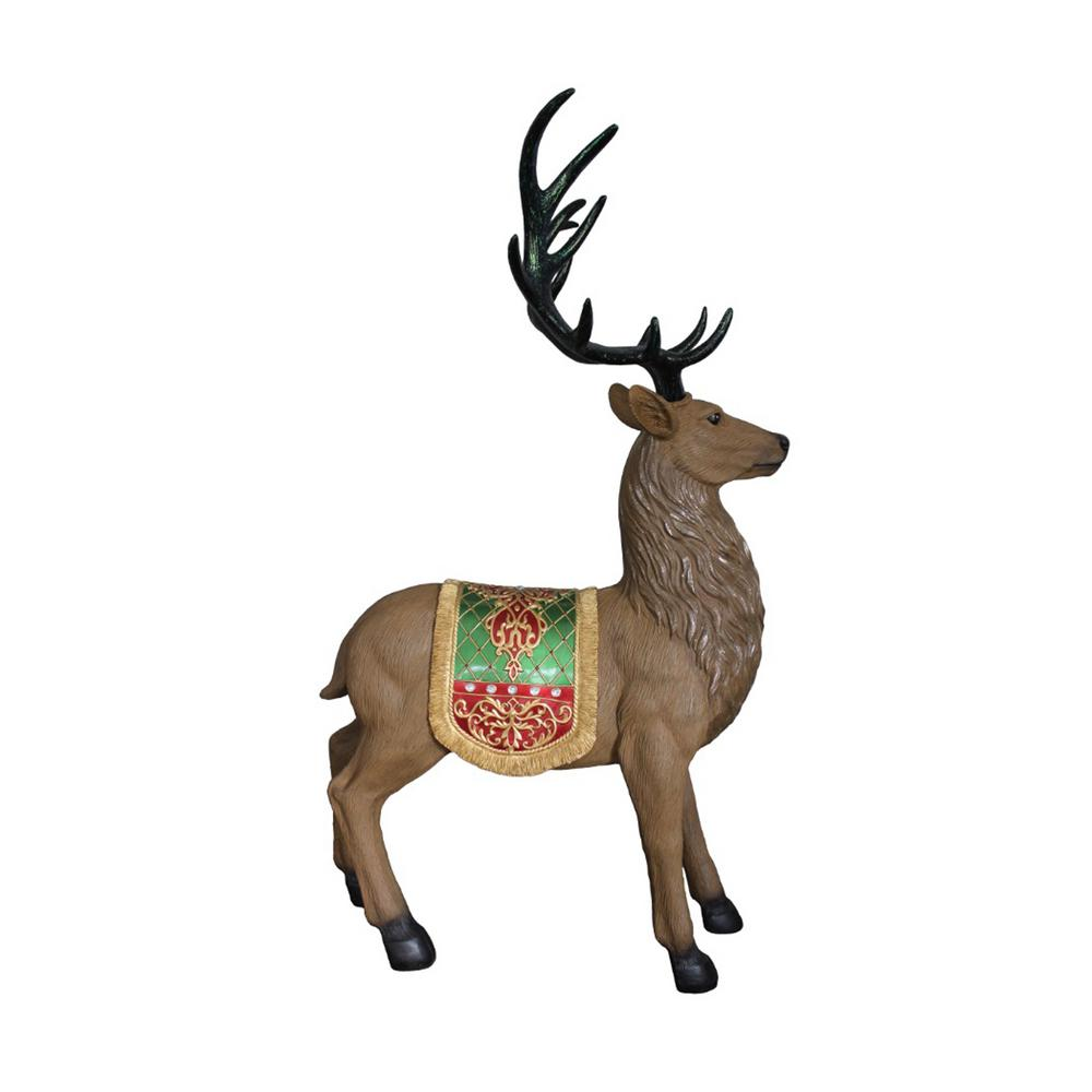 Northlight 60 In Christmas Commercial Grade Standing Reindeer Fibergl Outdoor Decoration