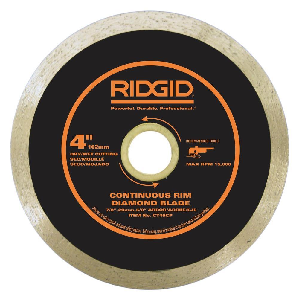 RIDGID 4 in. Continuous Diamond Blade