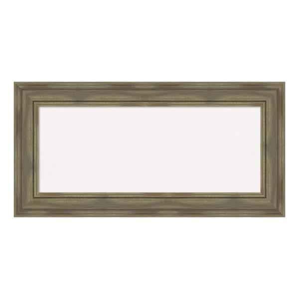 Amanti Art Alexandria Greywash Framed White Cork Memo Board DSW4094461