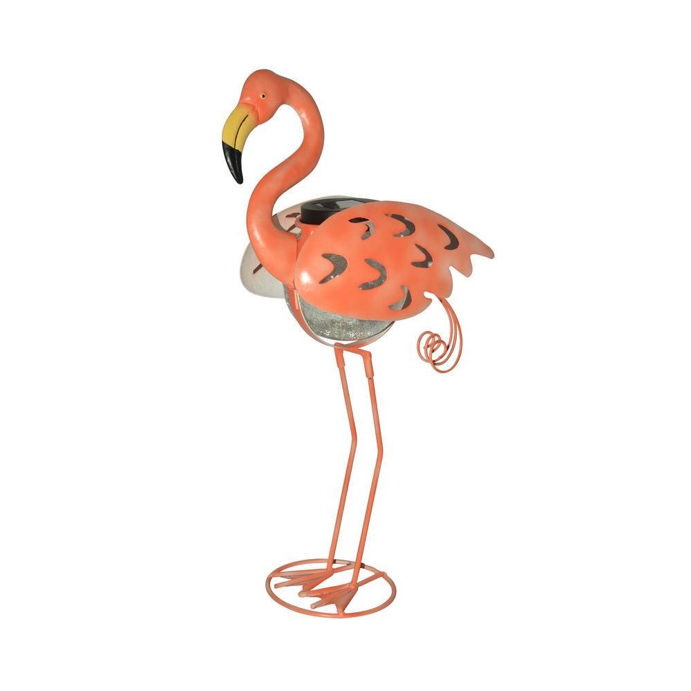Outdoor Salmon Flamingo Garden Accent