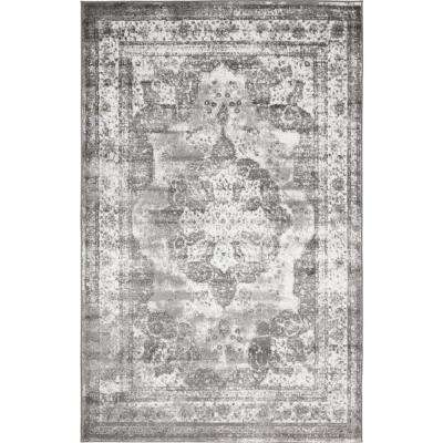 Monaco Gray 5 ft. x 8 ft. Area Rug