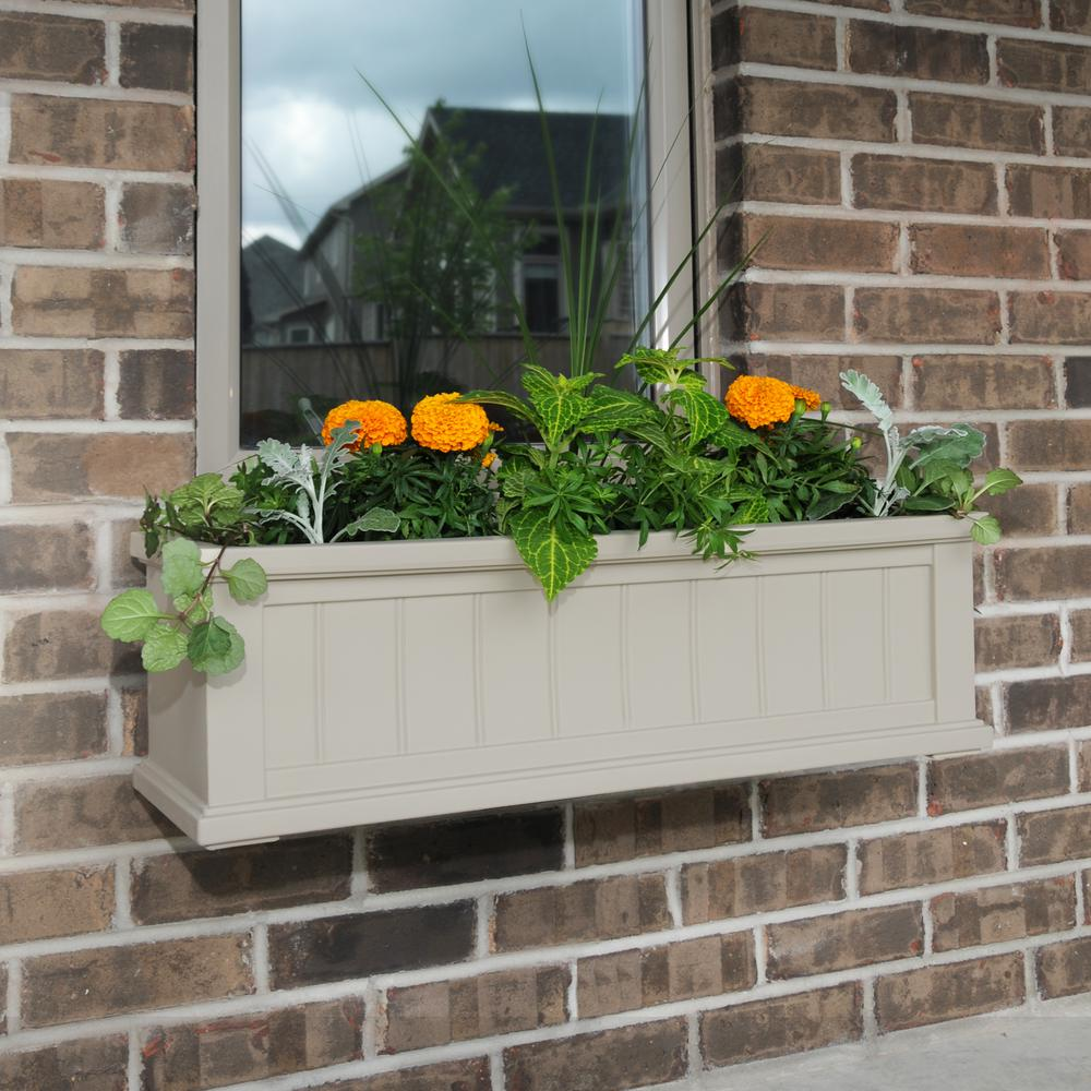 11 in. x 36 in. Clay Cape Cod Window Box