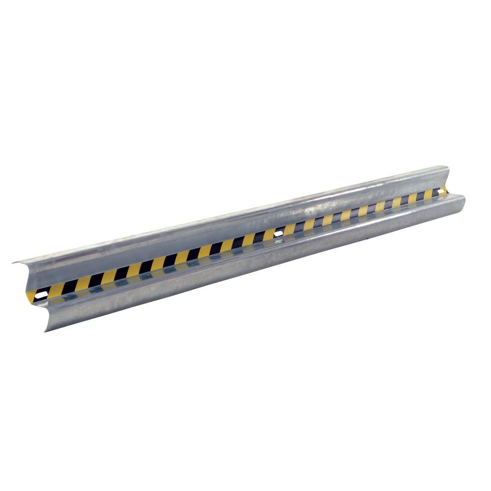 Vestil 120 in. Galvanized Steel Guard Rail