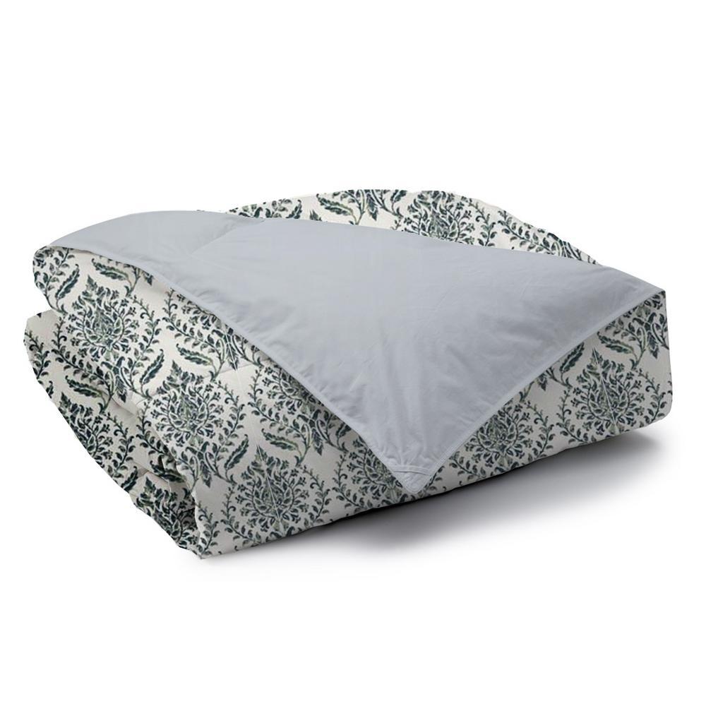 Trellis Reversible Print 100% Organic Cotton Wrinkle Resistant Duvet Set and Insert
