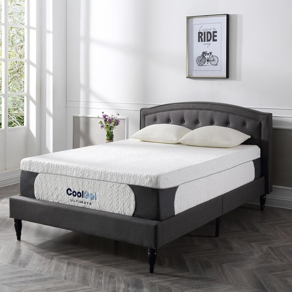 Cool Gel Ultimate King Size 14 In Gel Memory Foam Mattress 410167