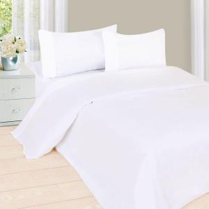 1200 Series 4-PieceWhite 75 GSM Queen Microfiber Sheet Set