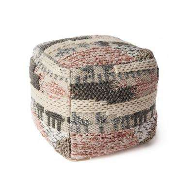 Soho Oasis 18 in. x 18 in. Accent Pouf