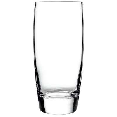 Michelangelo Masterpiece 14.5 fl. oz. Clear Lead-Free Ultra Clear Glass Beverage Drinking Glass (4-Pack)