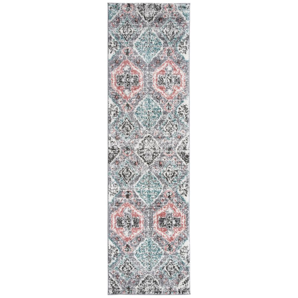 Contemporary Bohemian Ultra Soft Shag Multi 2 ft. x 7 ft. Runner Rug