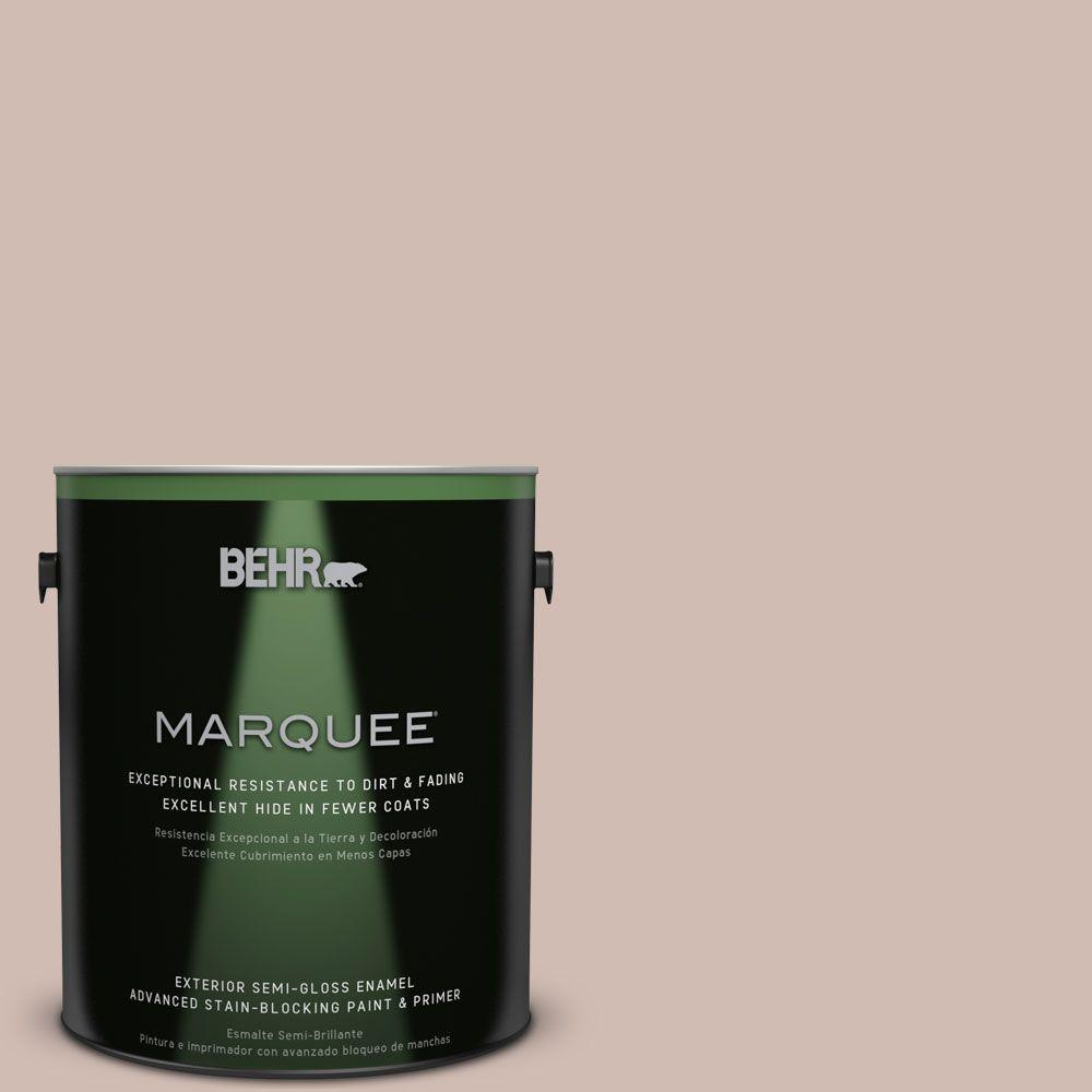 BEHR MARQUEE 1-gal. #ecc-28-1 Summer Bloom Semi-Gloss Enamel Exterior Paint, Browns/Tans