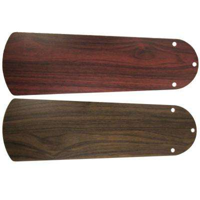 Replacement Walnut/Rosewood Blades for 42 in. Courtney Fan Only (Set of 4)