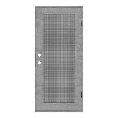 30 in. x 80 in. Full View Silverado Right-Hand Surface Mount Security Door with Meshtec Screen