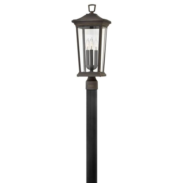 Bromley 3-Light  Oil Rubbed Bronze Outdoor Post Lantern