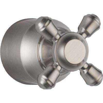 Cassidy Hand Shower/Diverter Valve Metal Cross Handle in Stainless