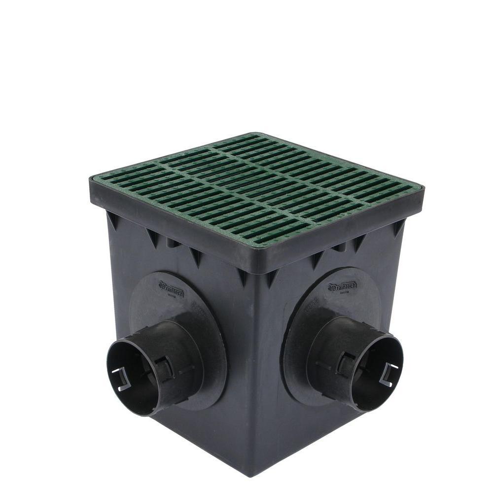 DrainTech 9 in. Square 4 Hole Catch Basin