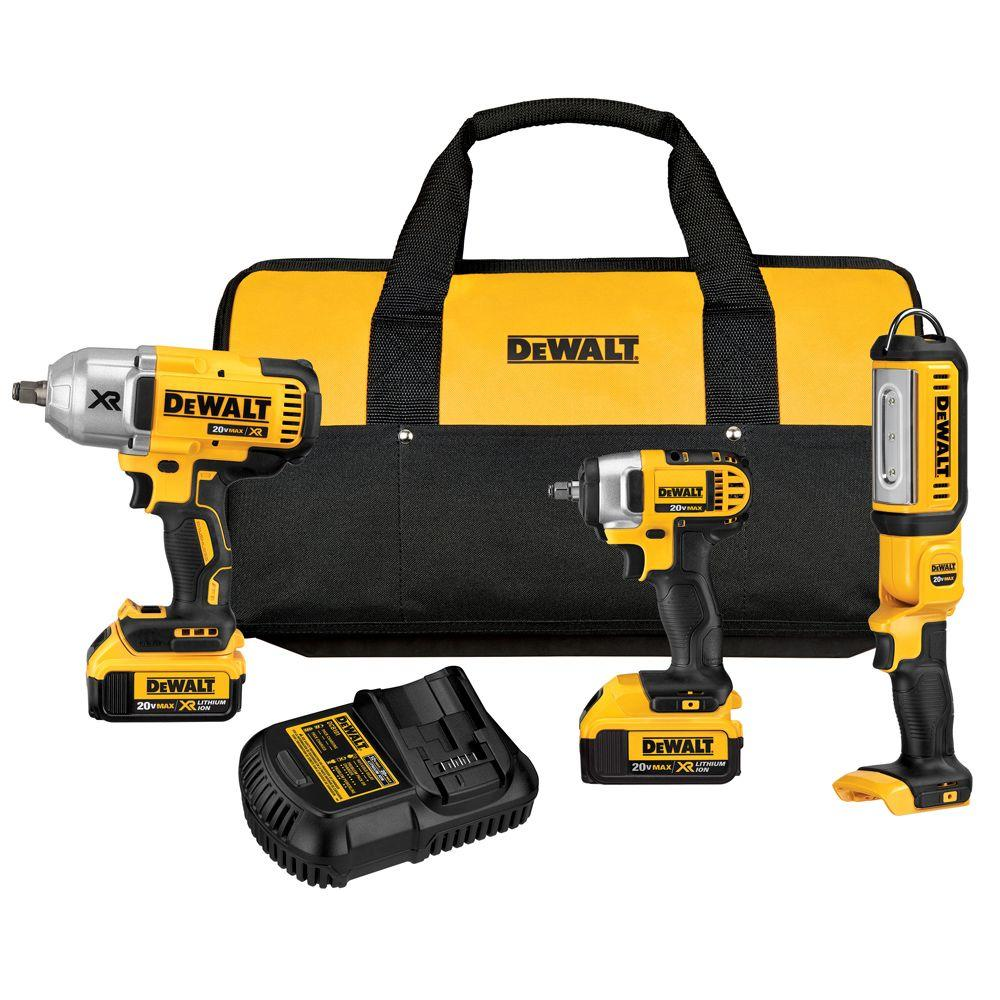 DEWALT 20Volt MAX LithiumIon Cordless Combo Kit 3Tool with 2