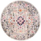 Madison Gray/Blue 5 ft. x 5 ft. Round Area Rug