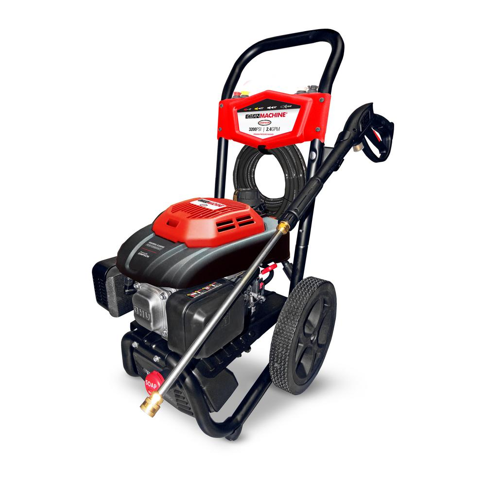 Simpson Clean Machine by SIMPSON CM61082 3200 PSI at 2.4 GPM 196cc Cold Water Residential Gas Pressure Washer