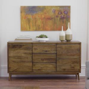 +6. Home Decorators Collection Conrad Antique Natural Buffet