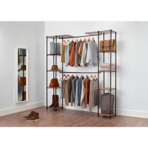 14 in. D x 76 in. W x 84 in. H Chrome Expandable Wire Closet System Organizer