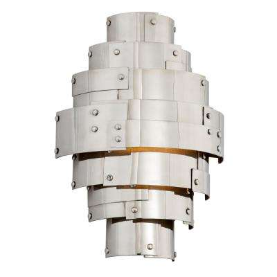 Mitchel Field 60-Watt Vintage Aluminum Integrated LED Sconce