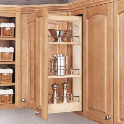 26.25 in. H x 5 in. W x 10.75 in. D Pull-Out Wood Wall Cabinet Organizer