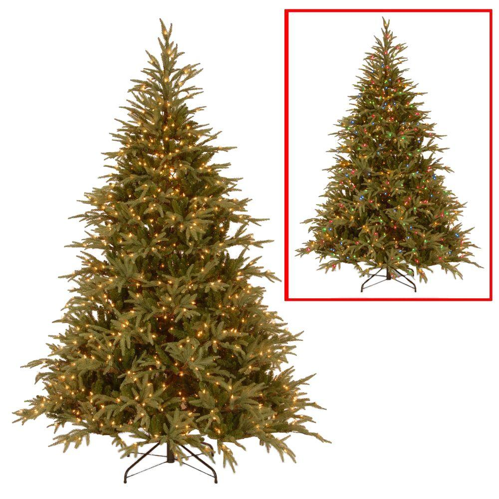 national tree company 75 ft frasier grande artificial christmas tree with dual color led lights - Frasier Christmas Tree