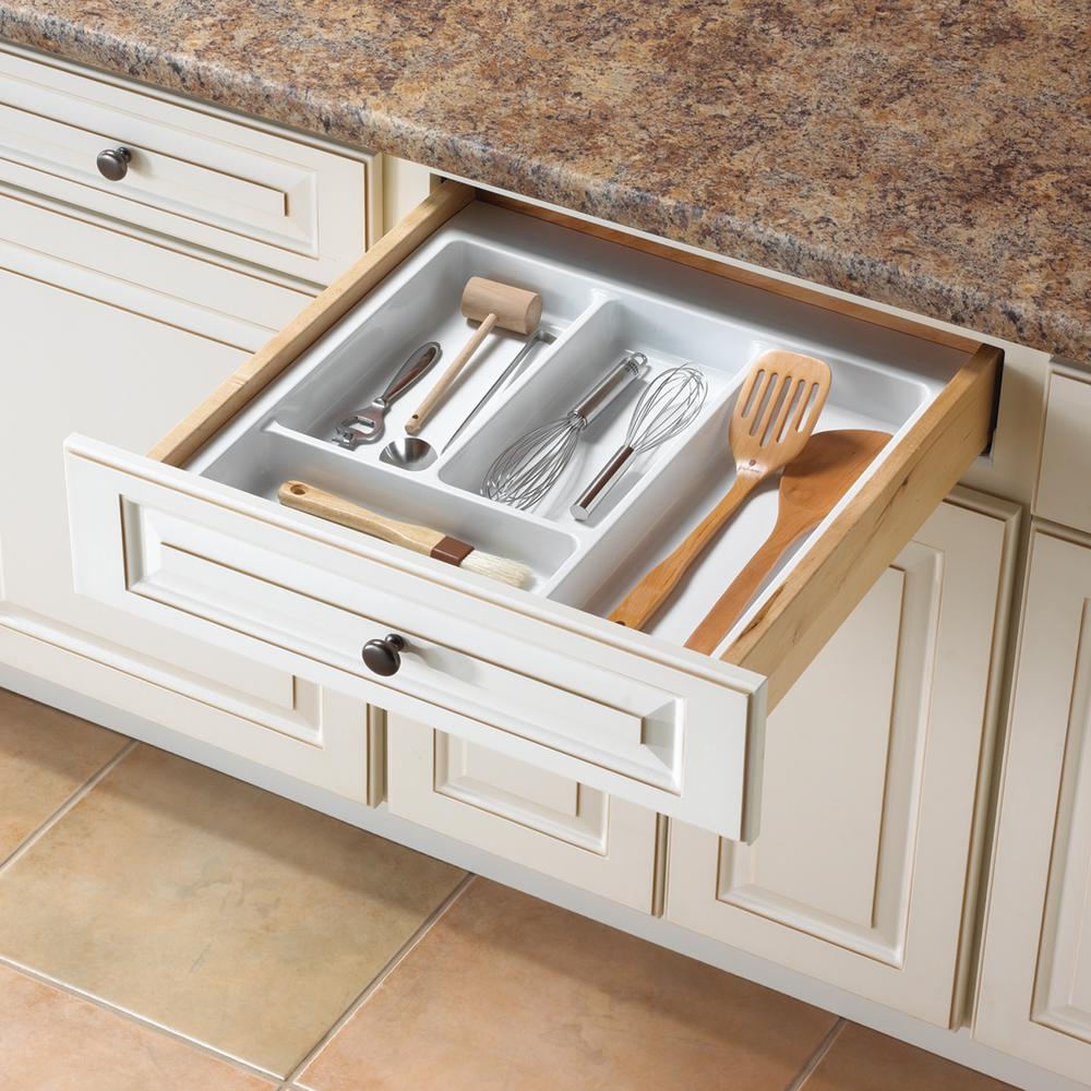 2.19 in. x 21.13 in. x 21 in. Utility Drawer Organizer