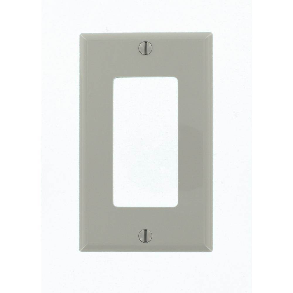 1-Gang Decora Nylon Wall Plate, Gray
