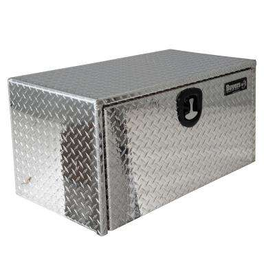Diamond Tread Aluminum Underbody Truck Box with T-Handle Latch, 18 in. x 18 in. x 36 in.