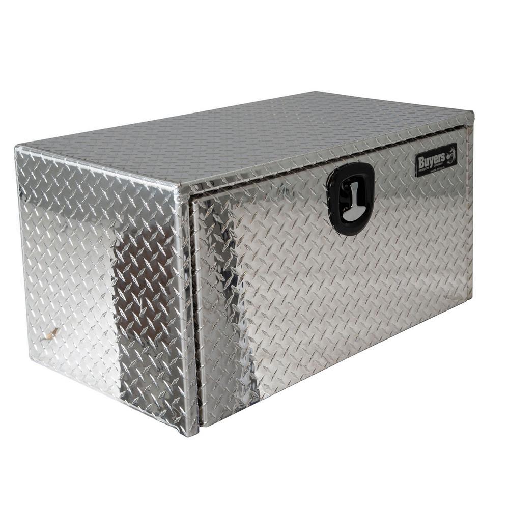 Diamond Tread Aluminum Underbody Truck Box with T-Handle Latch, 24 in. x 24 in. x 36 in.