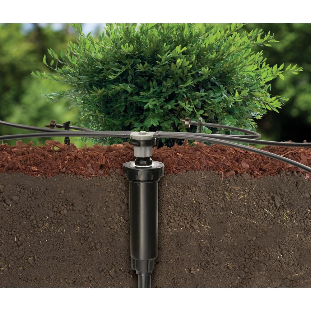 1800 Series Pop-Up to 6 Drip Emitters with 1//4 Tubing Rain Bird CNV182EMS Drip Irrigation Sprinkler Conversion Kit