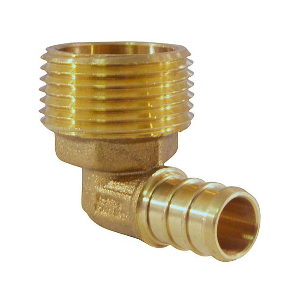 """3//4/"""" x 1//2/"""" MALE NPT PEX BRASS LEAD FREE THREADED ADAPTERS Barbed Fitting 8"""