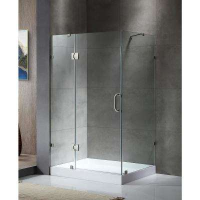 Archon 46 in. x 72 in. Frameless Corner Hinged Shower Door in Polished Chrome