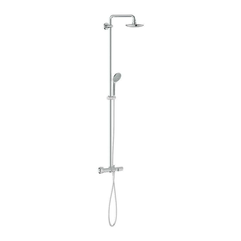 grohe euphoria 1 spray hand shower and showerhead combo kit in starlight chrome 26177000 the. Black Bedroom Furniture Sets. Home Design Ideas